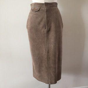 VTG Ralph Lauren Country Suede Skirt